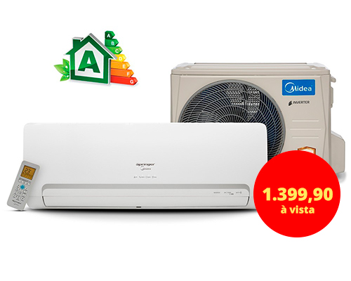 AR-CONDICIONADO INVERTER SPRINGER MIDEA 9000 BTUS - 220 VOLTS