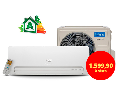 AR-CONDICIONADO INVERTER SPRINGER MIDEA 12.000BTUS - 220 VOLTS